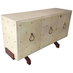 Wonderful and Rare Aldo Tura Parchment Sideboard