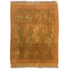 Large Antique Spanish Cuenca Rug