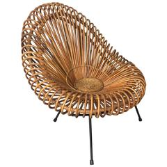 very rare bamboo chair by janine abraham and dirk jan rol / uncommon leg version