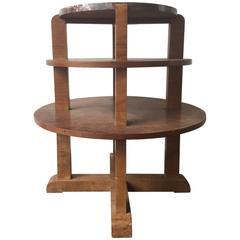 Nice Art Deco Side Table with Beautiful Marble Top