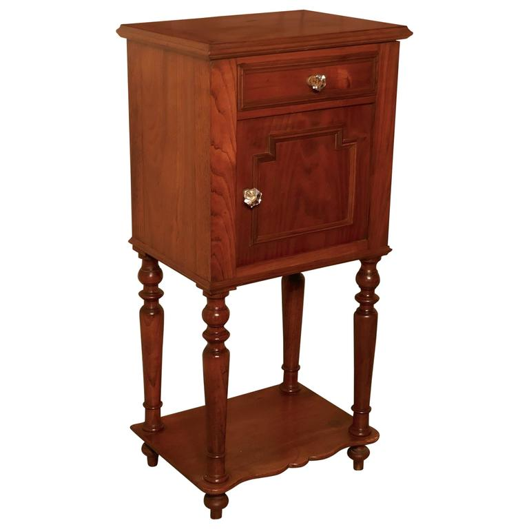 French 19th Century Cherrywood Bedside Cabinet