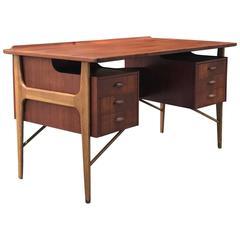 Svend Madsen Danish Teak Management Office Desk