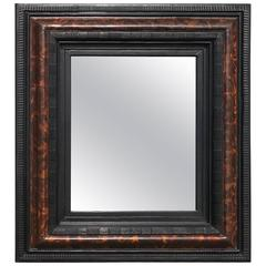 Dutch Faux Tortoise Shell Ripple Mold Mirror
