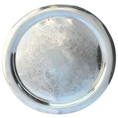 Large Gorham Silver Plate Engraved Tray