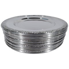Set of 12 International Prelude Sterling Silver Bread and Butter Plates