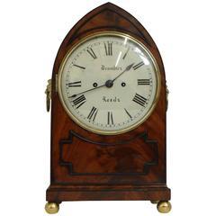 English Regency Mahogany Bracket Clock