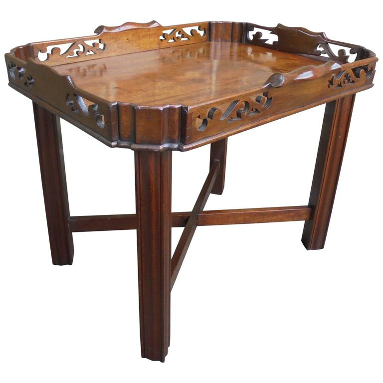 Antique Mahogany Chippendale Style Tray Top Coffee Table At 1stdibs