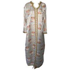 Moroccan Kaftan in Lame Brocade Fabric Size L to XL