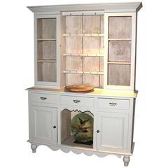 Antique Painted Oak Dog Kennel Dresser
