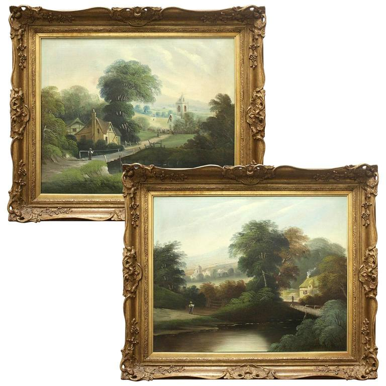 Pair of 19th Century English Landscape Paintings