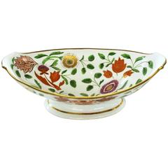 Antique English Coalport Porcelain Highly Decorative Floral Pedestal Compote
