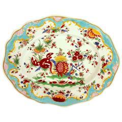 "Antique English Chamberlain's Worcester Kakiemon ""Jabberwocky"" Patt. Platter"
