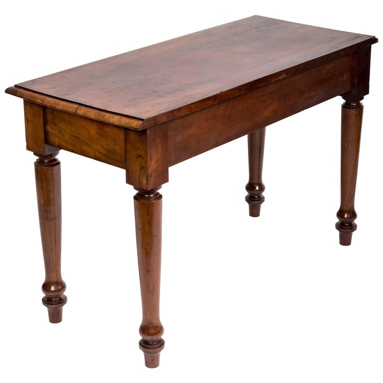 19th Century English Mahogany Serving Table For Sale
