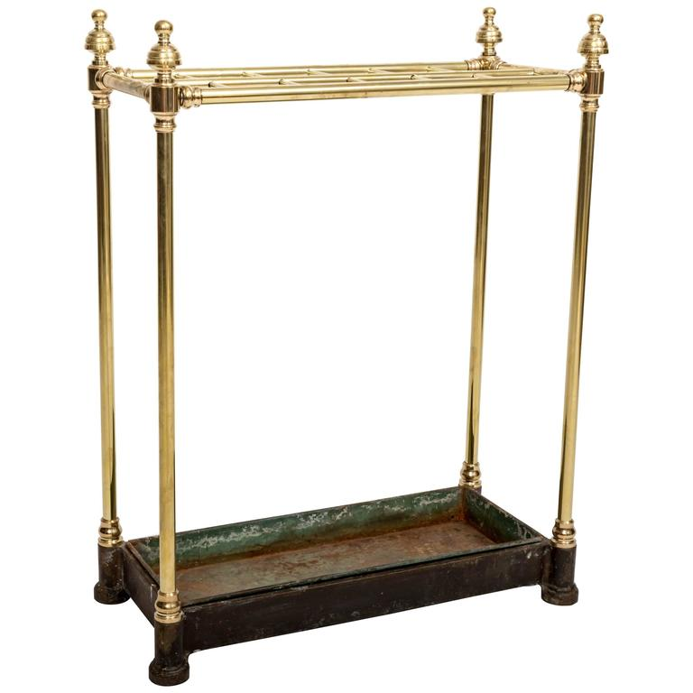 19th Century Brass Umbrella Stand, England, circa 1860 For Sale
