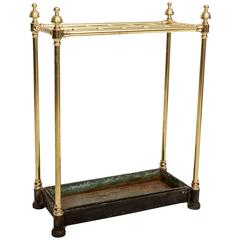19th Century Brass Umbrella Stand, England, circa 1860