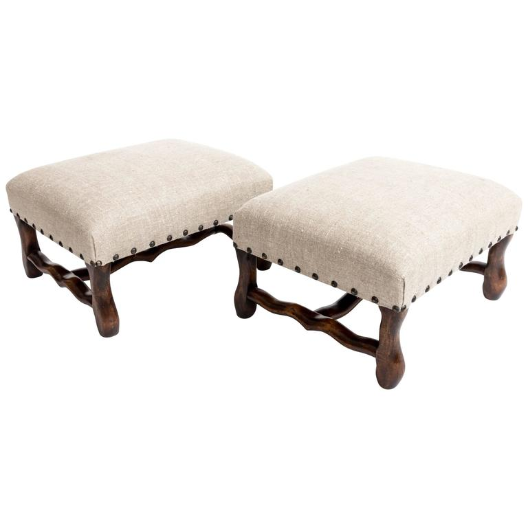 Pair of Turn-of-the-Century Hassocks, France, circa, 1900 1