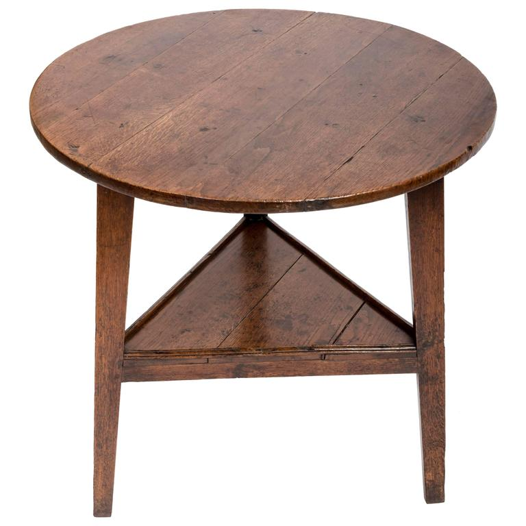 Early 18th Century Oak Cricket Table. England, circa, 1800 For Sale