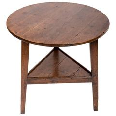 Early 18th Century Oak Cricket Table. England, circa, 1800