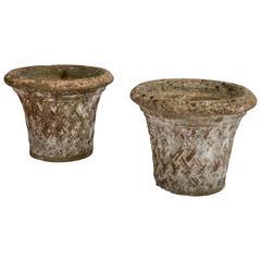 Pair of Stone Garden Urns, England, 1920s