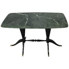 Italian Design Paolo Buffa Low Table with Marble Top for Fratelli Cassina