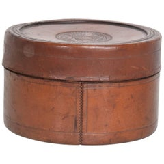 Antique Leather Jewelry Box Patdaug 5 1879 Hermes Era Dieu et mon droit