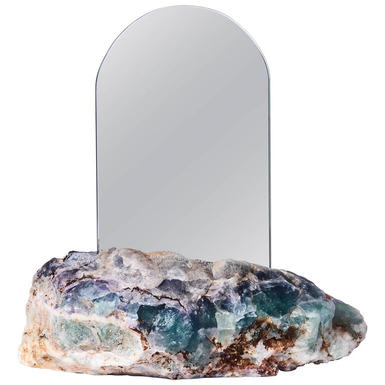 Aura mirror by another human contemporary crystal mirror for Long wall mirrors for sale