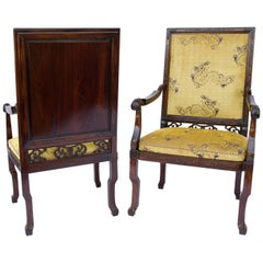 Pair of Large Chinese Armchairs, 1880