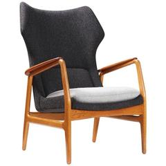 Aksel Bender Madsen Bovenkamp Wing Chair, circa 1960