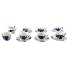 Six Person Royal Copenhagen Blue Flower Angular, Espresso Cups, 'Mocca Cups'