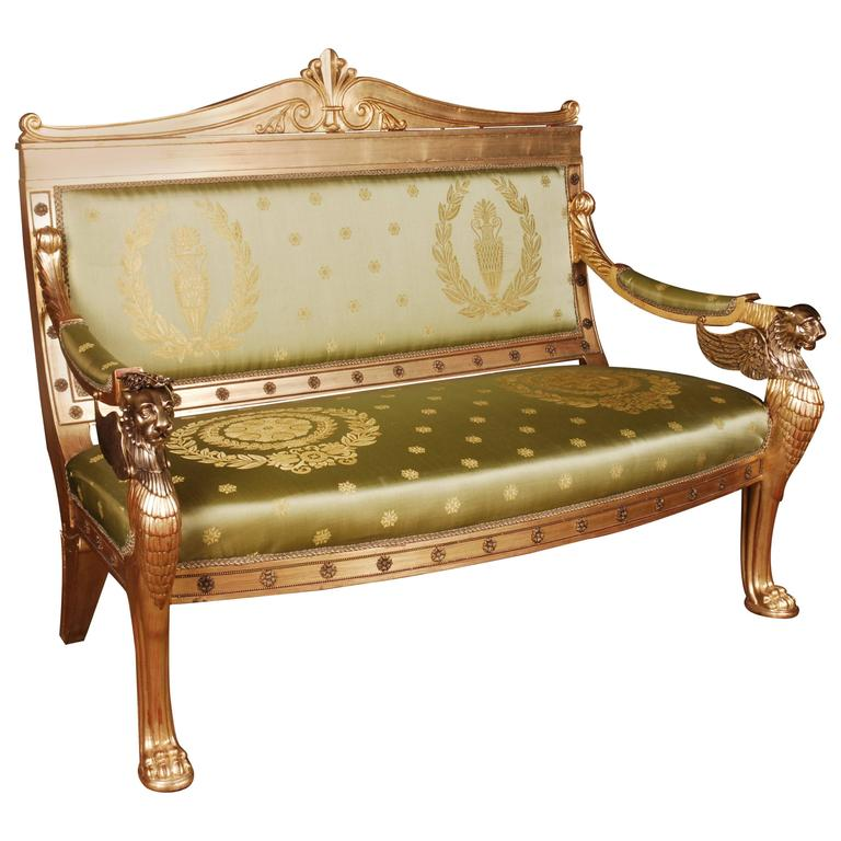 imperial lion sofa with lion and wings in empire style for sale at rh 1stdibs com french empire style sofa american empire style sofa