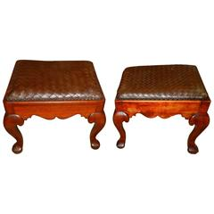 Pair of Chippendale Stools