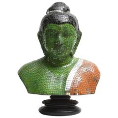 Bust of Buddha in Mosaic