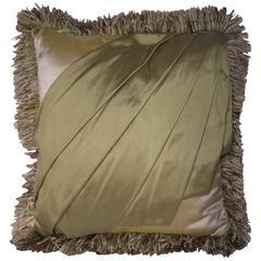 Art Deco Style Silk Throw Pillow, Original Designed Silk Throw Pillow