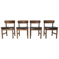 Børge Mogensen Chairs, Produced by Fredericia Furniture, Set of Four