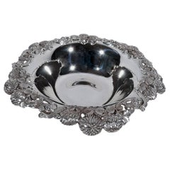 Tiffany Sterling Silver Bowl in Classic Clover Pattern, circa 1898