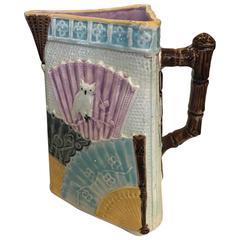 Antique English Majolica Pitcher