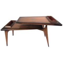 Unique Mid-Century Two-Tier Mahogany Coffee Table