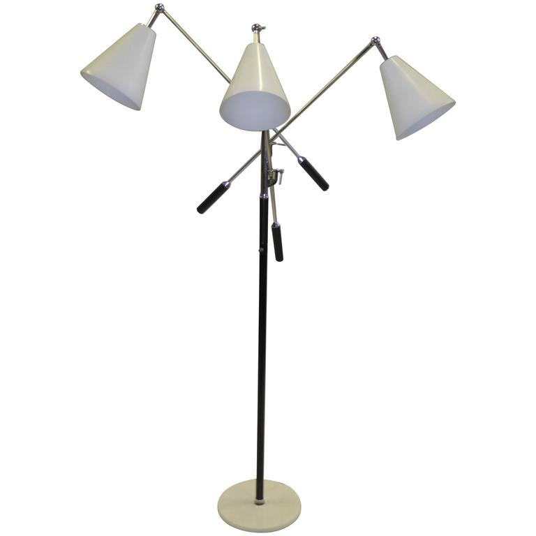 Angelo lelli style design triennale three arm articulating floor angelo lelli style design triennale three arm articulating floor lamp 1960s for sale aloadofball Choice Image