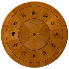Modern Classicism Centre or Side Table with Inlaid Zodiac Signs by Otto Schulz