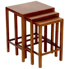 Exceptionally Well Crafted Set of Nesting Tables in Oak by Frits Henningsen