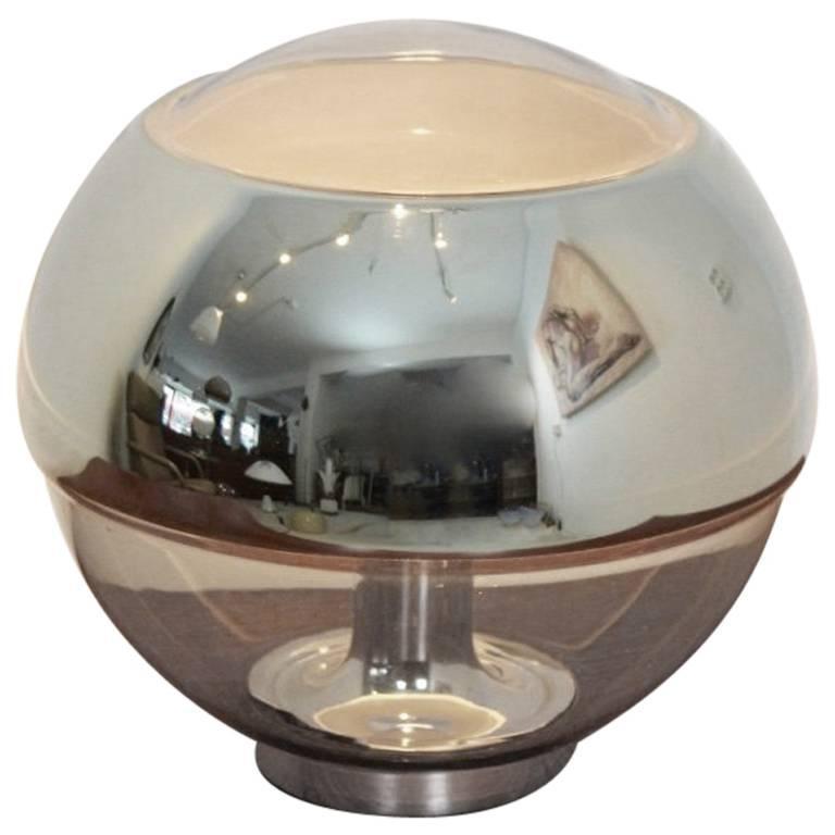 Exquisite Peill & Putzler Chromed Mirror Full Glass Table Lamp