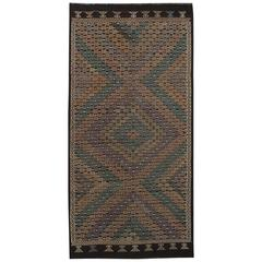 Beautifully Designed Vintage Sumahk Rug