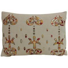 Vintage Turkish Embroidered Lumbar Decorative Pillow