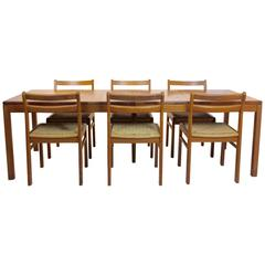 Skovmand and Andersen Danish Dining Set with Practical Extensions