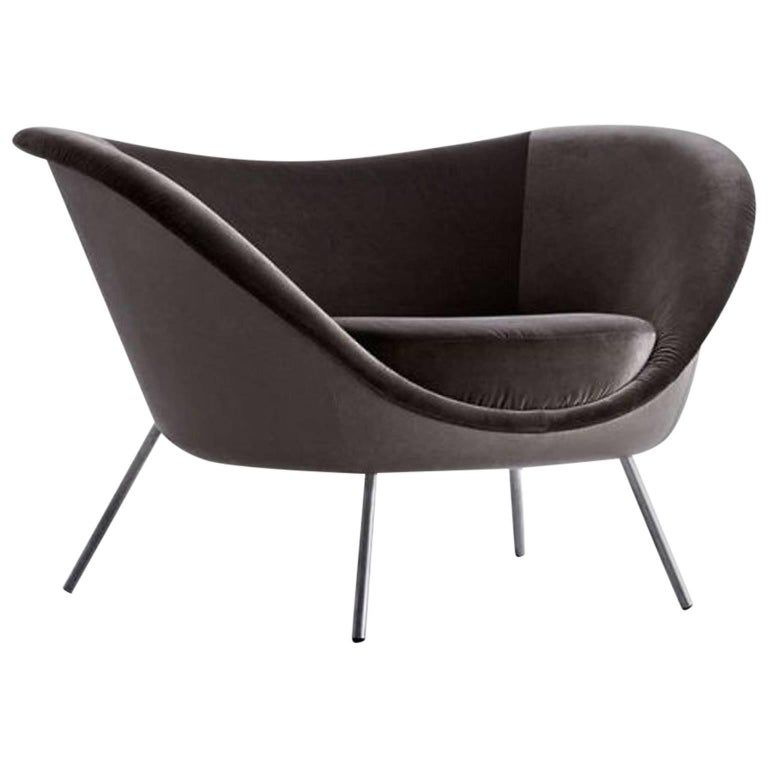 Missoni Home Dining Chair Miss: Molteni Miss Dining Armchair In Black Tinted Ash With