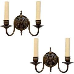 Dutch Bronze Sconces