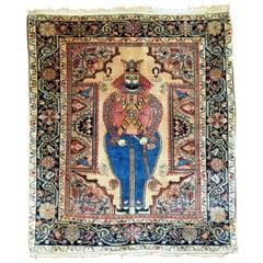 Antique Sarouk King Shapur Rug