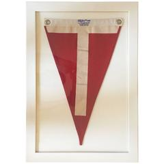 1950s Nautical Flag in Custom White Frame