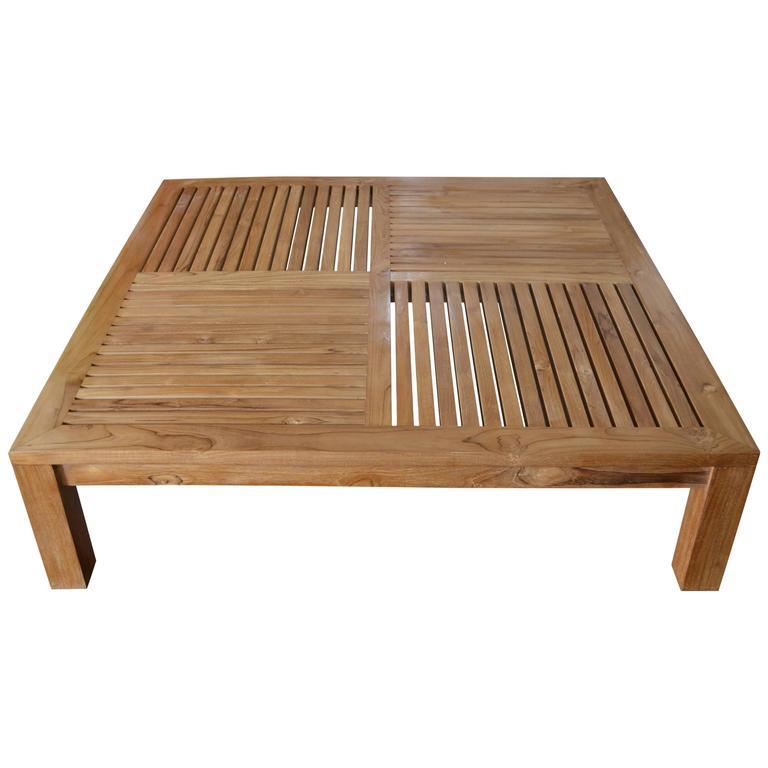 Merveilleux Andrianna Shamaris Slatted Teak Wood Coffee Table