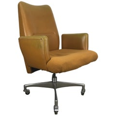 Unusual 1960s Modernist Executive Oversized Desk Chair